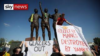 European Super League: Manchester United fans protest against ownership, demanding '50+1' model