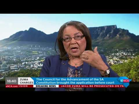 Patricia De Lille reacts to Zuma prosecution decision