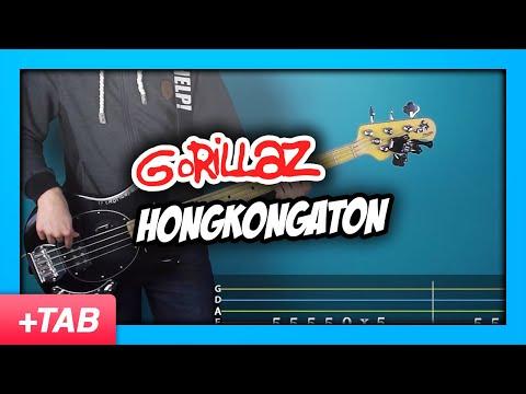 Gorillaz hongkongaton bass cover with live tabs