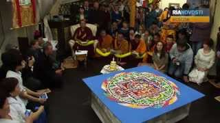 Monks Destroy Intricate Sand Mandala to Get Healed