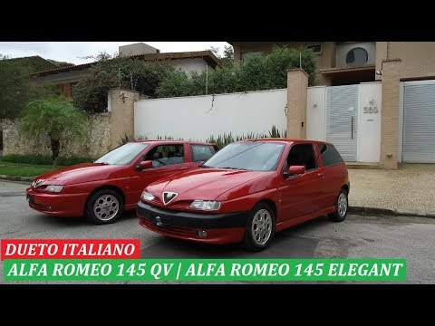 Dupla italiana: Alfa Romeo 145 Quadrifoglio e 145 Elegant