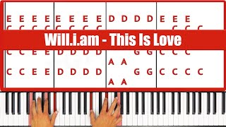 ♫ ORIGINAL - How To Play This Is Love Will.I.am Piano Tutorial Lesson - PGN Piano
