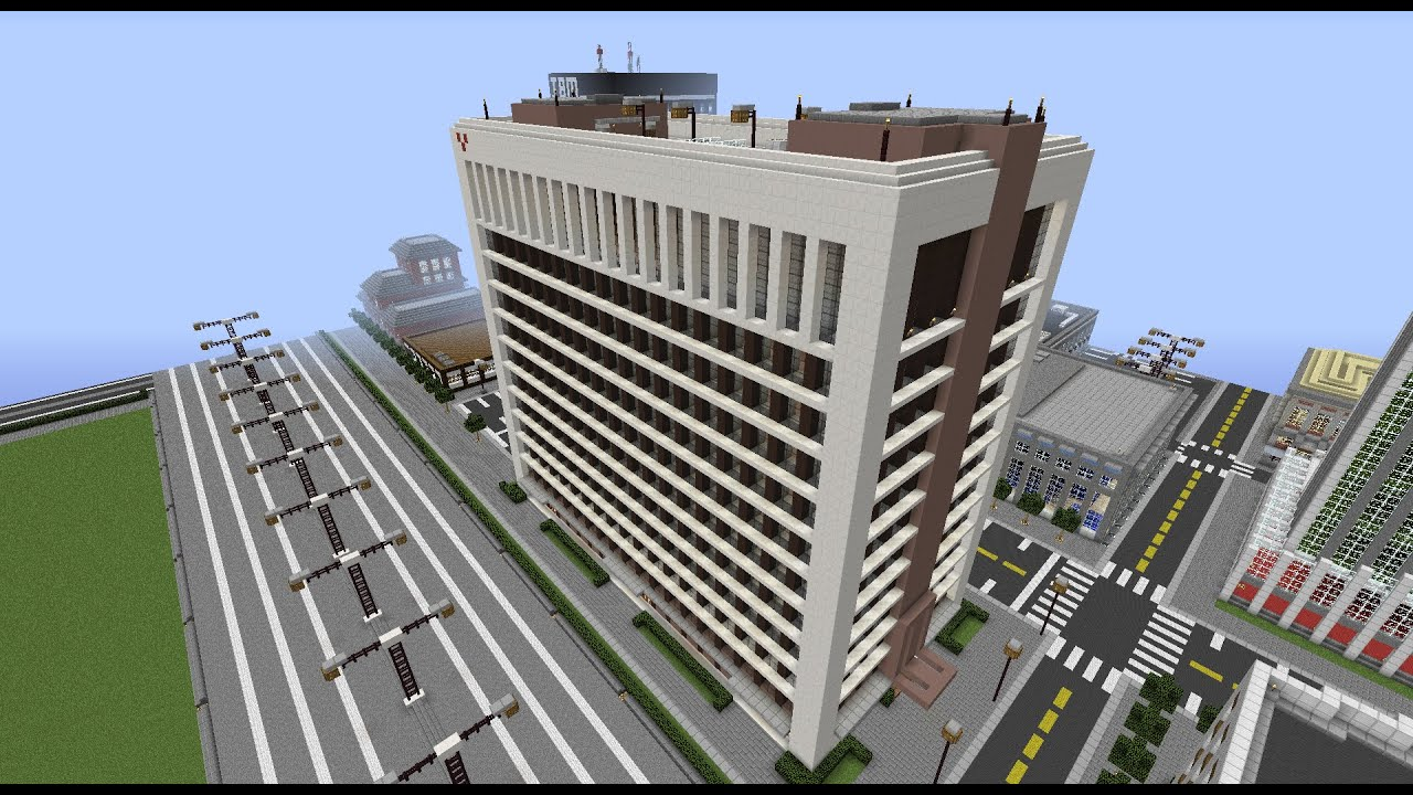 Minecraft Building Timelapse 10 Modern Office Block