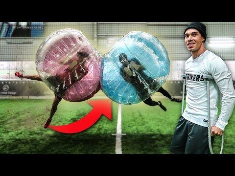 XXL BUBBLE BALL FUßBALL CHALLENGE!! *ACHTUNG GEFAHR*
