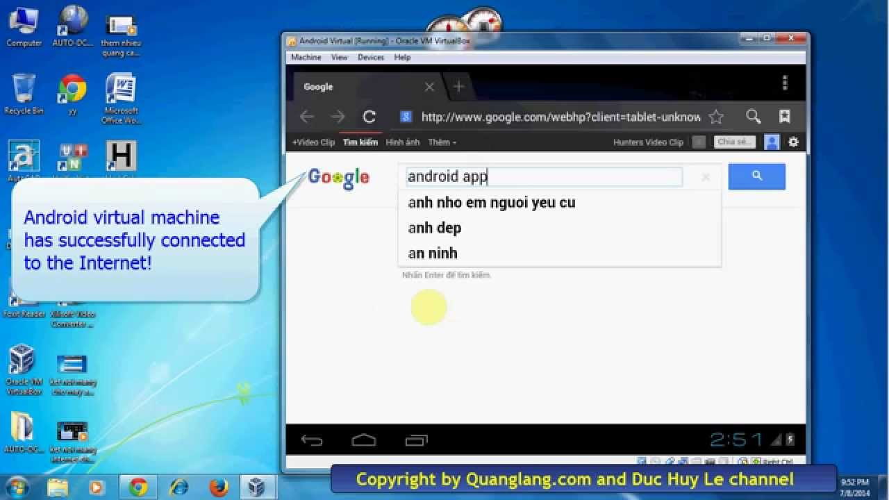 Enable network connection in Android VM [Tutorial]