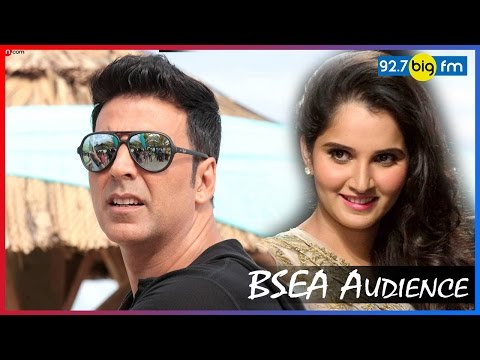 BSEA Audience Sania Mirza and Akshay Kumar
