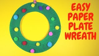 Easy Paper Plate Wreath | Christmas Craft for Kids