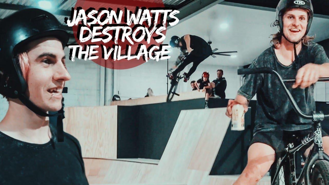 JASON WATTS DESTROYS THE VILLAGE SKATEPARK!