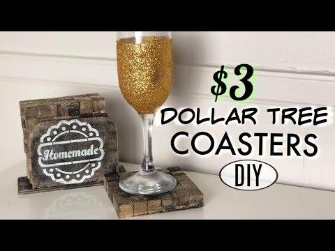 DIY Dollar Store Wood Coasters