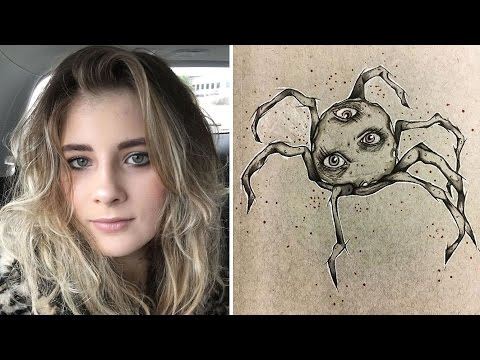 18 Year Old Schizophrenic Girl's Interesting Drawings