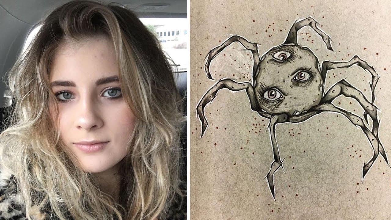18 Yaşındaki Şizofren Kızın Gördüğü Şeylere Dair İlginç Çizimleri