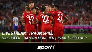 """""""Traumspiel"""" LIVE 🔴   Vilshofen Rot Weiß - FC Bayern München   SPORT1"""