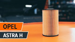 How to change Oil Filter on OPEL ASTRA H (L48) - online free video