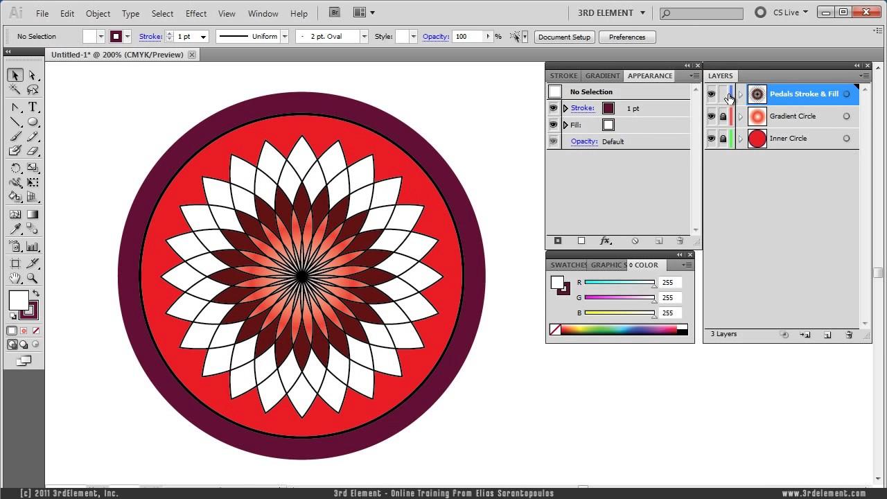 Create A Vector Lotus Flower Illustrator Tutorial Youtube
