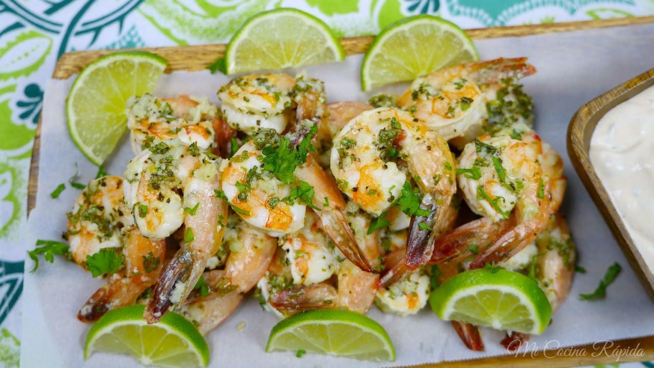 Camarones con ajo y parmesano receta s per f cil mi - Cocina rapida y facil ...