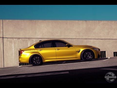 BMW M3 in Austin Yellow shot for Ferrada Wheels. Theo-Graphics