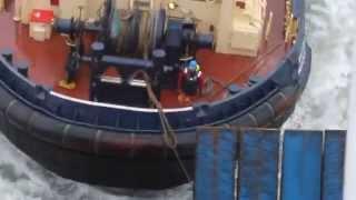 Tugboat to rescue {Ijmuiden-newcastle} Dutch