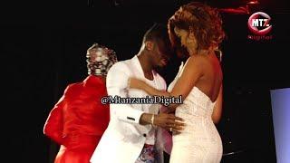 Diamond Platnumz, Hamisa Mobetto washindwa kuzuia hisia zao jukwaani tuzo za #SZIFF