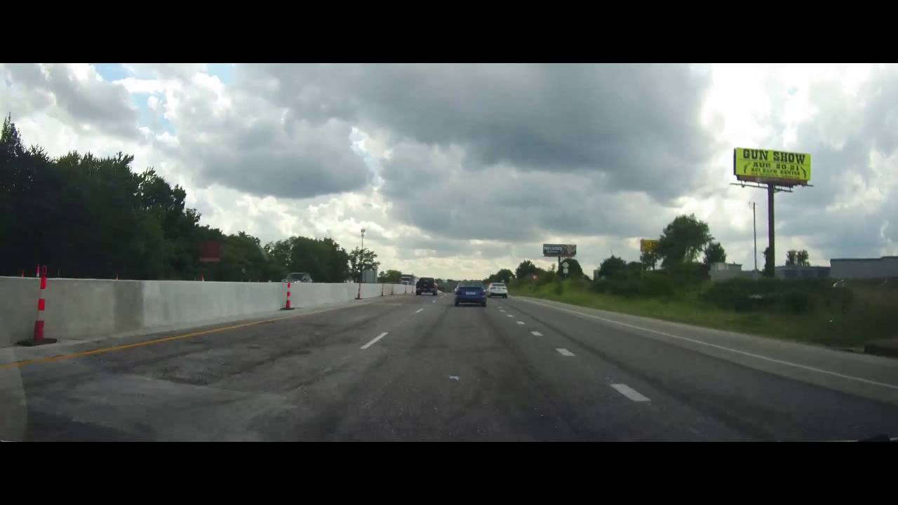 Driving Through Downtown Kansas City MO On I35 And US 71