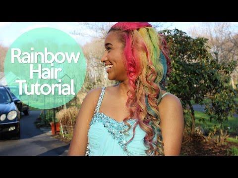 Rainbow Hair Tutorial - How to Dye your Hair Rainbow | OffbeatLook