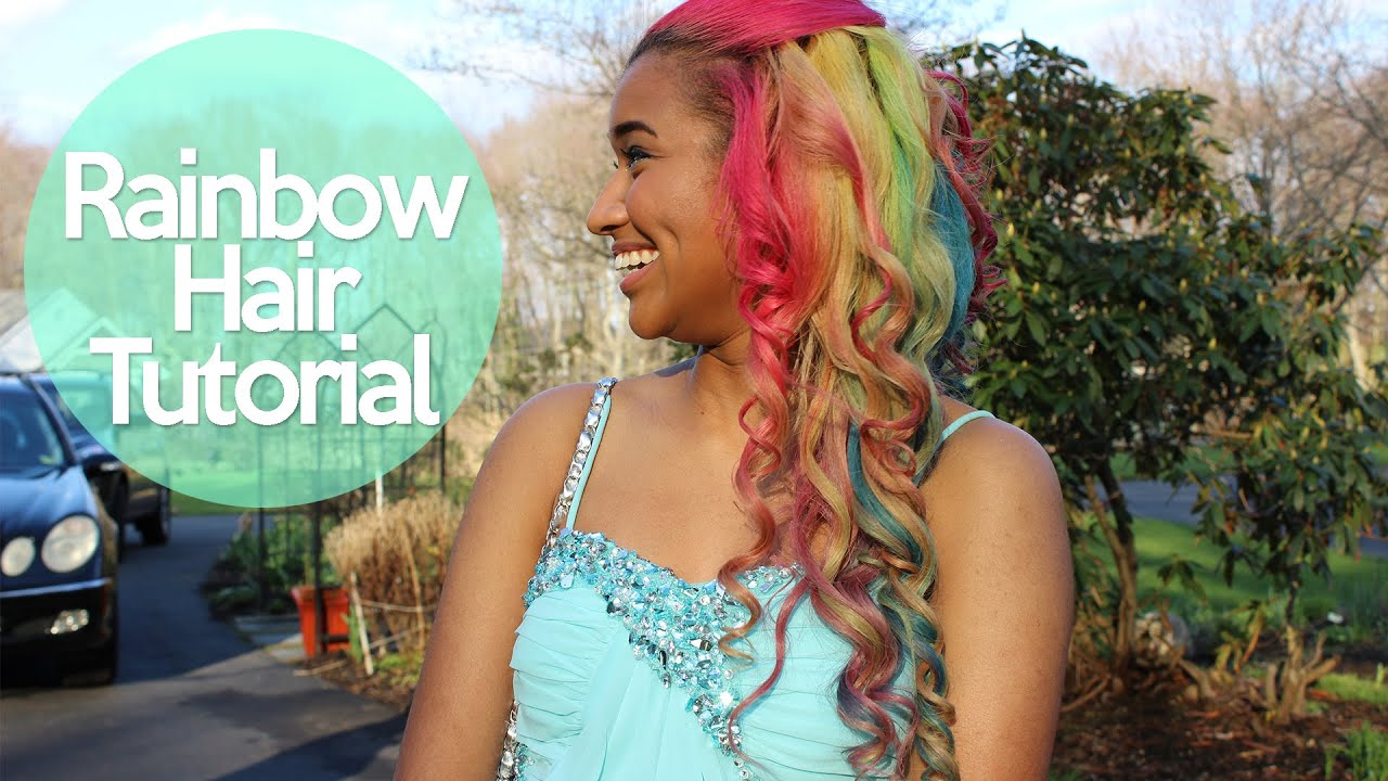 Rainbow Hair Tutorial How To Dye Your Hair Rainbow