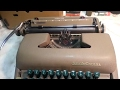 Smith Corona typewriter escapement noise pawl clicking , sterling, super silent