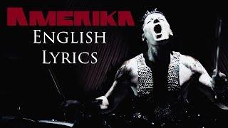 "RAMMSTEIN ""Amerika"" English Lyrics HD"