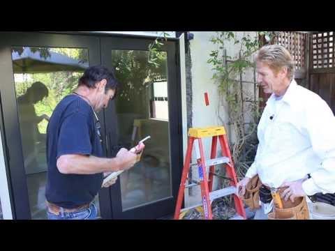 Installing a new sliding glass door Larry Beilman & Kirk Giordano