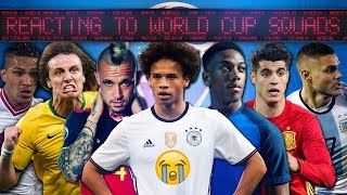 REACTING TO ALL THE WORLD CUP SQUADS!