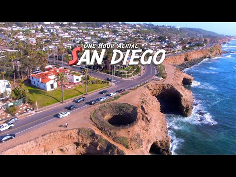 San Diego - One Hour Relaxation - 4K Drone Footage - Relaxation Music