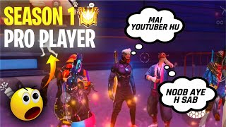 SEASON 1 ELITE PASS PRO PLAYER IN MY GAME - #JONTYGAMING - GARENA FREEFIRE BATTLEGROUND
