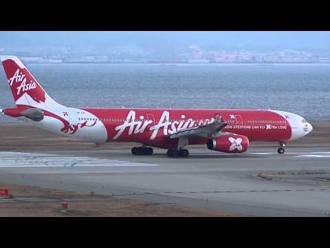 AirAsia X Airbus A330-300 9M-XXB Takeoff From KIX 24L