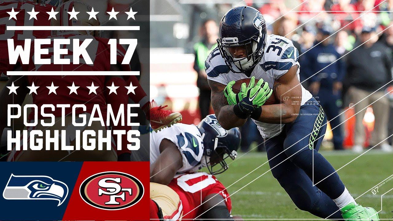 Seahawks vs 49ers nfl week 17 game highlights youtube 49ers nfl week 17 game highlights youtube voltagebd Gallery