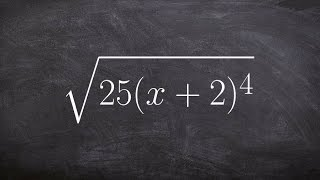 How to simplify the square root of an expression with a binomial part of the radicand