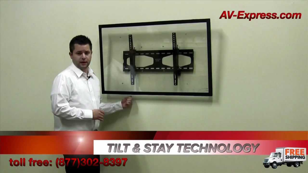 Tilting Tv Wall Mount With Tilt N Stay Technology 32 60 Tvs