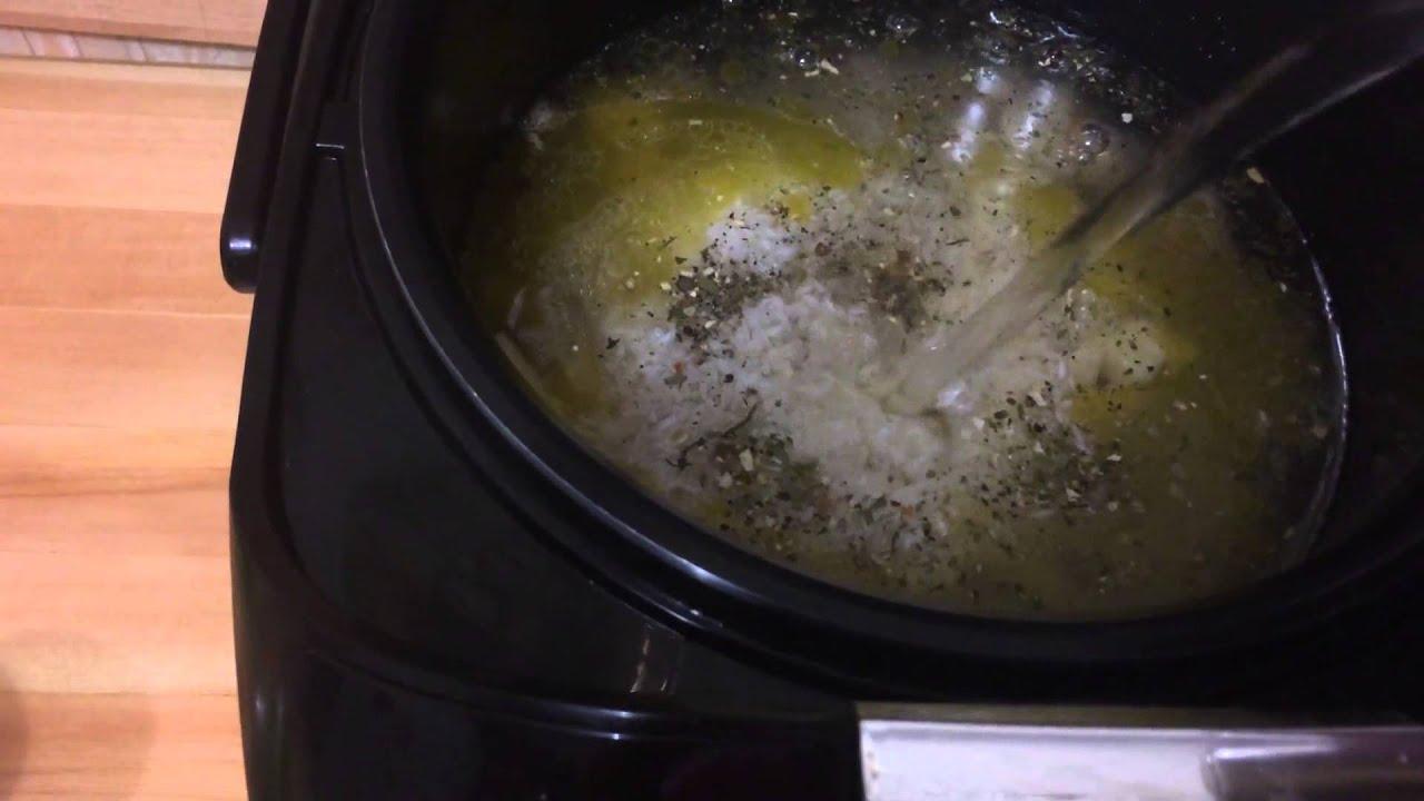 Суп рисовый со свининой в мультиварке