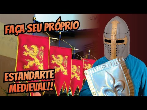 Como Fazer Um Mini Estandarte Medieval! (Flâmula/Bandeira) / Medieval Flag! How To Make. DIY