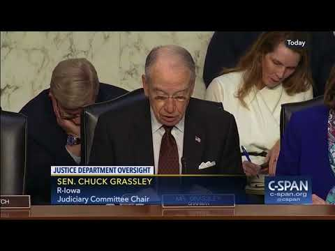Justice Department Oversight Hearing - Jeff Sessions