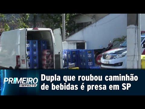 Acusados de roubar carga de bebidas são presos na Grande São Paulo | Primeiro Impacto (19/07/18)