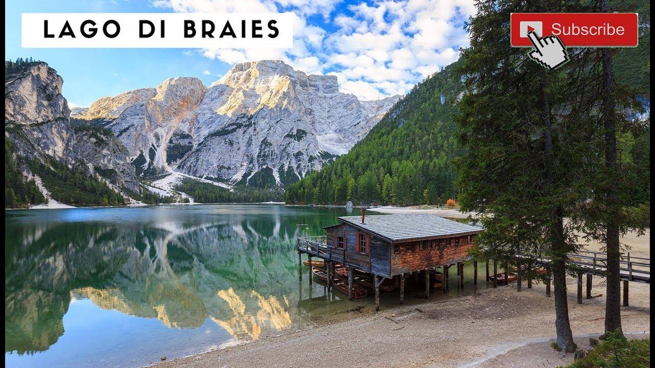 Lago Di Braies dal Drone in 4k   Lacul Braies filmare ...