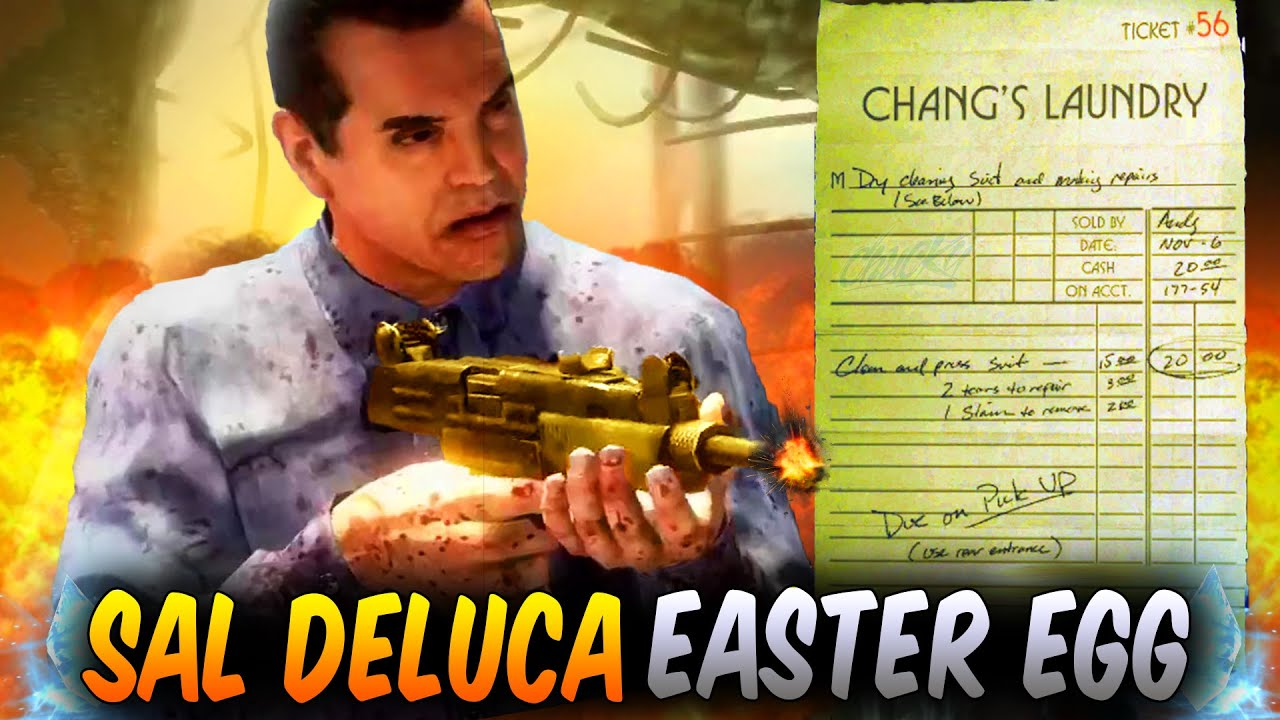 SAL DELUCA WAS IN SHADOWS OF EVIL! SECRET MOB OF THE DEAD NOTE! BLACK OPS 3  EASTER EGGS