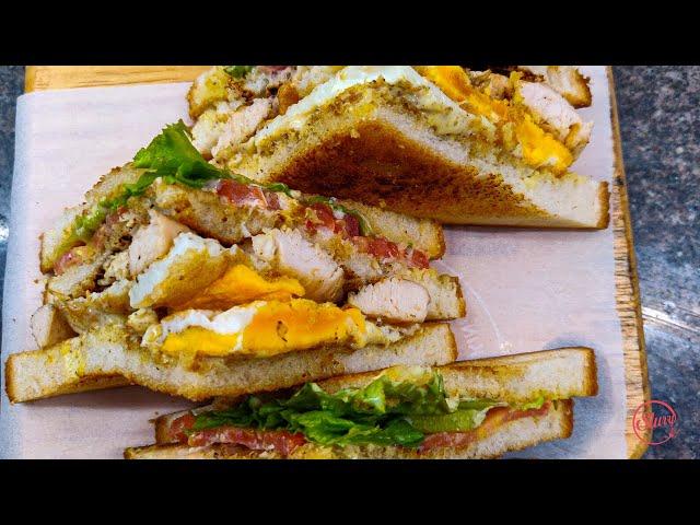 Restaurant Style Chicken Club Sandwich at Home