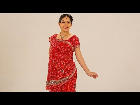 How To Wear A Saree To Look Slim Step By Step-Rajasthani Style Sari Draping with Thin Perfect Pleats