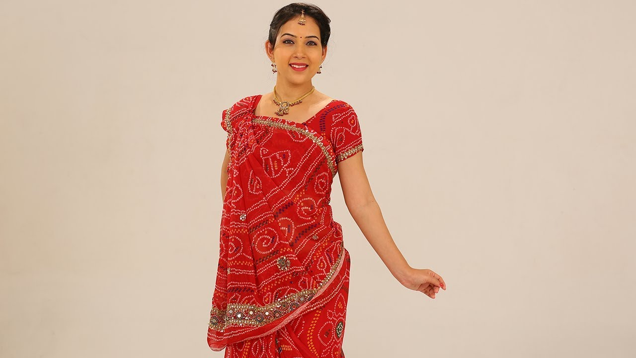 How to seedha wear pallu saree