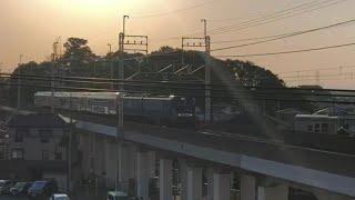 EF64 1030+E235系J-10編成 EF65 2138+EF65 2090 ムド OM入場配給 横須賀総武快速線用E235系グリーン車甲種輸送
