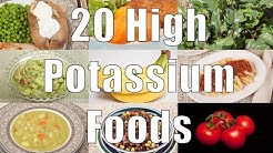 20 High Potassium Foods (700 Calorie Meals) DiTuro Productions
