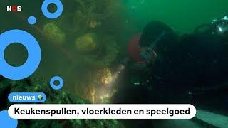Duikers halen 2500 kilo troep uit de Noordzee