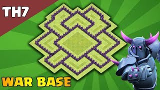 New TH7 War Base (Trophy) 2018 | Town hall 7 War Base Layout [Defensive] | Clash of Clans