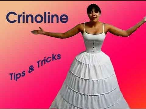 Crinoline Hoopskirt Tips Tricks Lucy S Corsetry Youtube