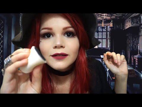 АСМР | Ведьма сделает тебе Макияж | Звуки Спонжа, Кисточки| ASMR | Witch Does your Makeup ????